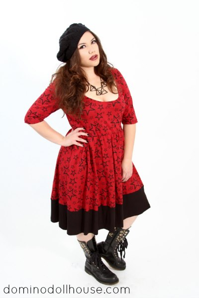 red star skater dress