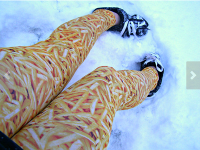 French Fry Leggings from thegeekgarden