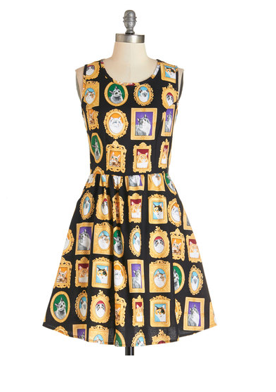 Mew-seum Visit dress by Modcloth