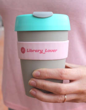 Library Lover keep cup from ALIA