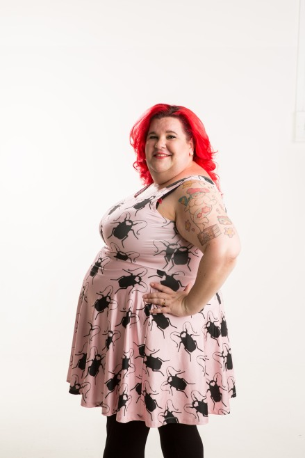 An actual plus-size customer. (Photo by Paul Harris)