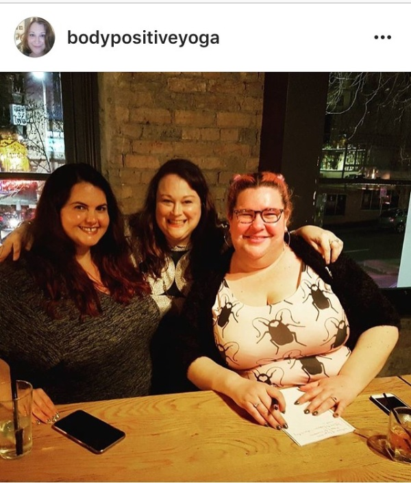 Meagan Kerr, Sarah Harry and myself at the Feminism, Fashion and Fat Bodies panel.